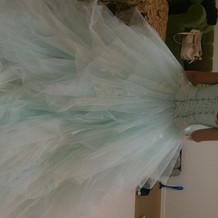 当日きたカラードレス