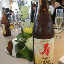 結婚式用!?ビール 初めて見ました