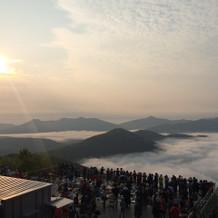 雲海テラスでの風景