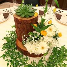 可愛らしい装花