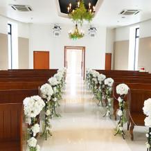 祭壇からのチャペル