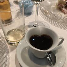 デザートのお供にコーヒー