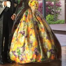 蜷川実花さんカラードレス  前