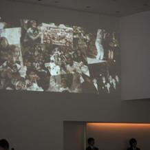 壁にDVD映像を移す