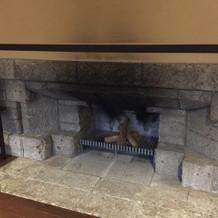 暖炉もあります