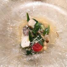 試食の際に頂いた魚料理