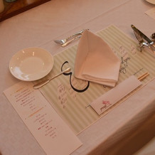 ゲストの方のテーブルです