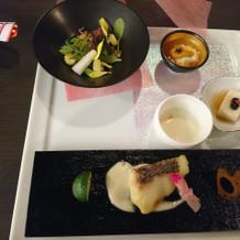 西京焼きとサラダは美味しいです