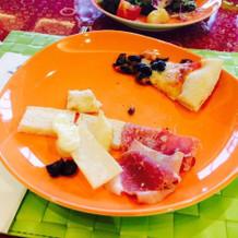 ランチブッフェ(チーズと生ハム)