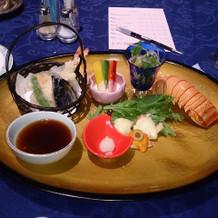 和食メイン  洋食はステーキでした