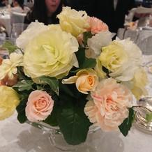 テーブルの装花も全てデザインからセレクト