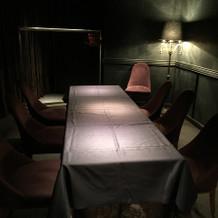 レストランの個室です。