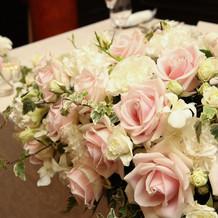 高砂の装花(バラはセミオーダー)