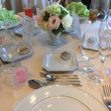 ゲストのテーブル