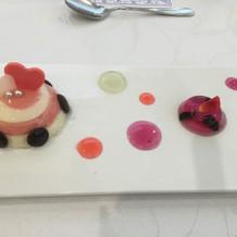 デザートもすごく可愛らしいです!