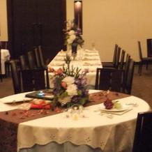 2種類のテーブル