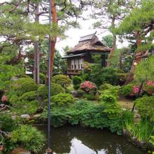 庭園の茶室