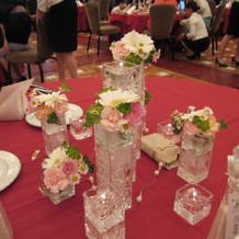 テーブルの演出