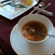 タラバガニのスープ