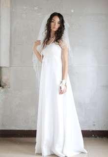 女神のようなシルクのドレス(インナードレス)