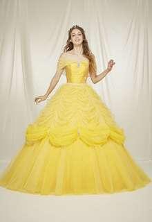 ベルのようなカラードレス 「美女と野獣」ベルのようなカラードレス