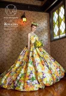 蜷川実花デザインのカラードレス イエロー B10-201604