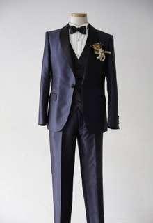 Short Navy Tuxedo | Navy×Black