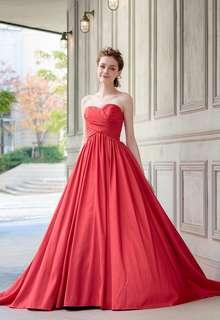【Cinderella & Co.】レッドが新鮮な2WAYカラードレスSS0228Red
