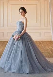 【Cinderella & Co.】大人の洗練感!グレーのカラードレス SS5982Gray