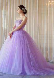 【Cinderella & Co.】大人のライラックパープルのバレリーナカラードレス SS5982LI