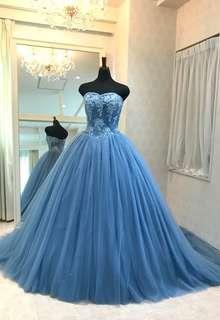 【Cinderella & Co.】ブルーグレイのカラードレスSS5982BG