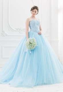 【Cinderella & Co.】スカイブルーのカラードレスSS5982BL