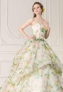 【Cinderella & Co.】フラワープリント柄カラードレスSS2551FP