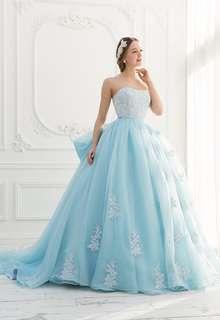【Cinderella & Co.】ブルーのカラードレスSS2644BL