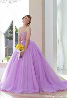【Cinderella & Co.】パープルのカラードレスSS9590LI