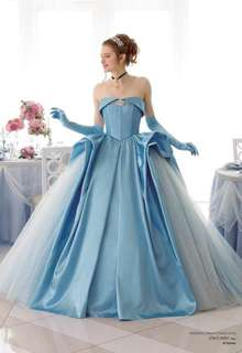 ディズニ ウェディングドレスコレクション DWS0005 ブルー