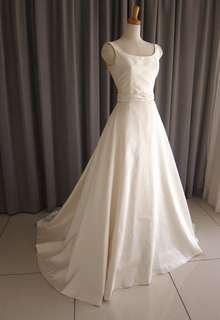 Silk taffeta A-line dress