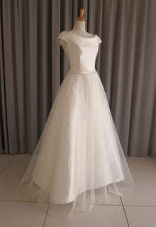 Mikade & tulle lace dress
