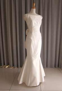 Silk taffeta mermaid line dress
