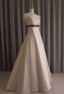 Silk jacquard A-line dress