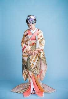 桃色四季花亀丸紋