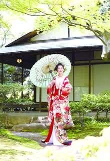 熨斗桜に花車