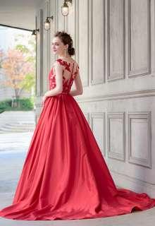 【Cinderella & Co.】2WAYの赤いカラードレスSS0228Red