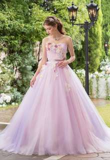 ラベンダーカラードレス