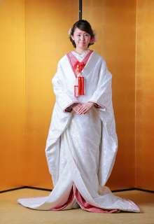 和婚喜コレクション 鶴と小花の集-しぼりライン-