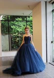 【Cinderella & Co.】ネイビーのバレリーナカラードレスSS5982NV