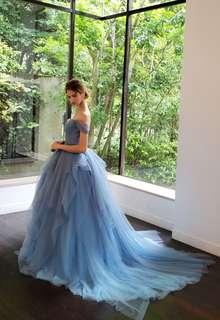 【Cinderella & Co.】ブルーグレーの大人の洗練グラデーションカラードレスSS9668BG