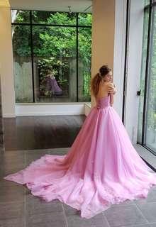 Cinderella & Co.】グレイッシュパープルのカラードレス SS4592GPU