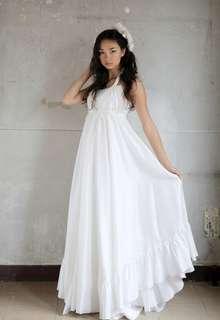 女神のようなシルクのドレス(オーバードレス込み)