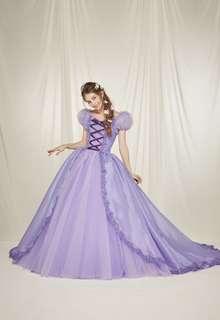プリンセスカラードレスラプンツェルのようなカラードレス